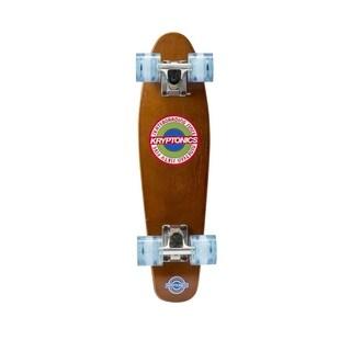 "Kryptonics Wood Torpedo Complete Skateboard (22.5"" x 6"") - Brown"