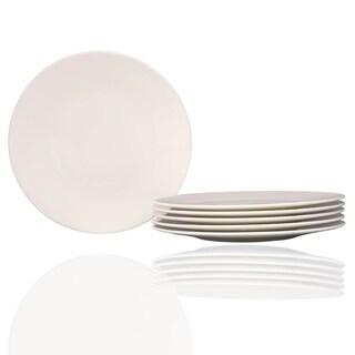 "Extreme White Round Salad Plate 8.25"" Set /6"