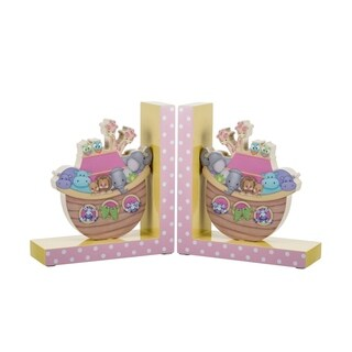 "Noah's Pastel Pairs ""The Ark"" Bookends"