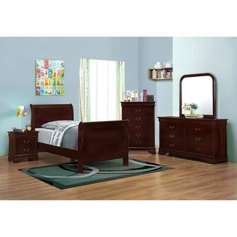 Louis Philippe Traditional 5-piece Bedroom Set