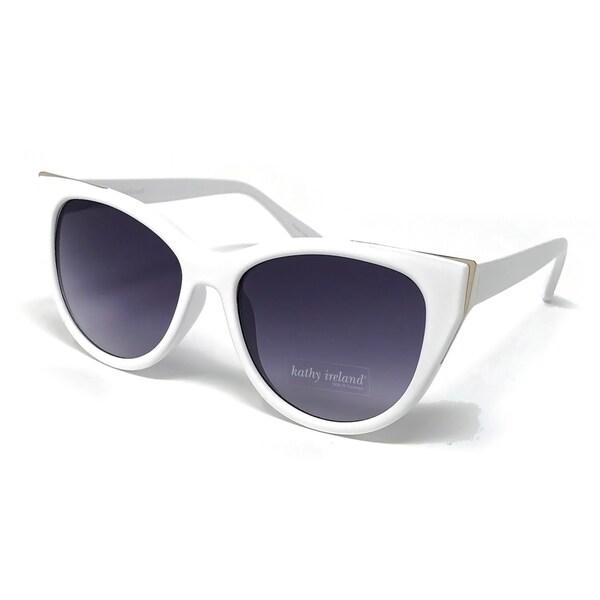 4c024c91d1c Shop Kathy Ireland Women s White Cat-eye sunglasses - Free Shipping ...