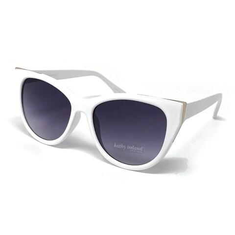 Kathy Ireland Women's White Cat-eye sunglasses