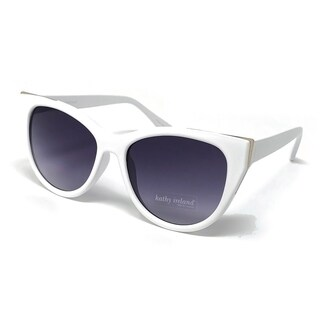 Kathy Ireland Women's White Cat-eye sunglasses