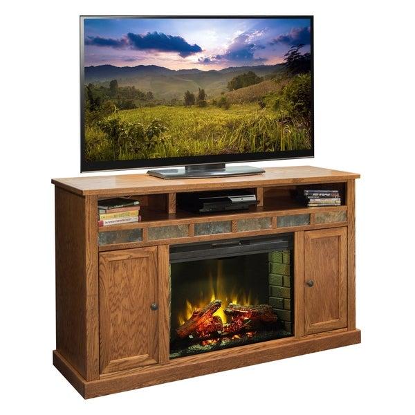 Shop Oak Creek 62 Inch Fireplace Console Free Shipping Today