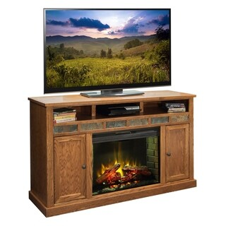 Copper Grove Creusot Golden Oak 62-inch Fireplace Console