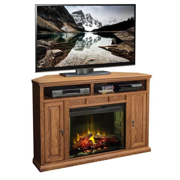Copper Grove Millau 56-inch Corner Fireplace