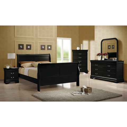 Louis Philippe Traditional 4-piece Bedroom Set