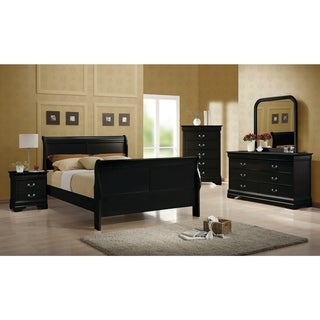 Louis Philippe Traditional 4 Piece Bedroom Set
