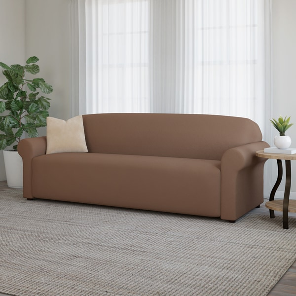 shop newport stretch sofa slipcover on sale free shipping on orders over 45. Black Bedroom Furniture Sets. Home Design Ideas