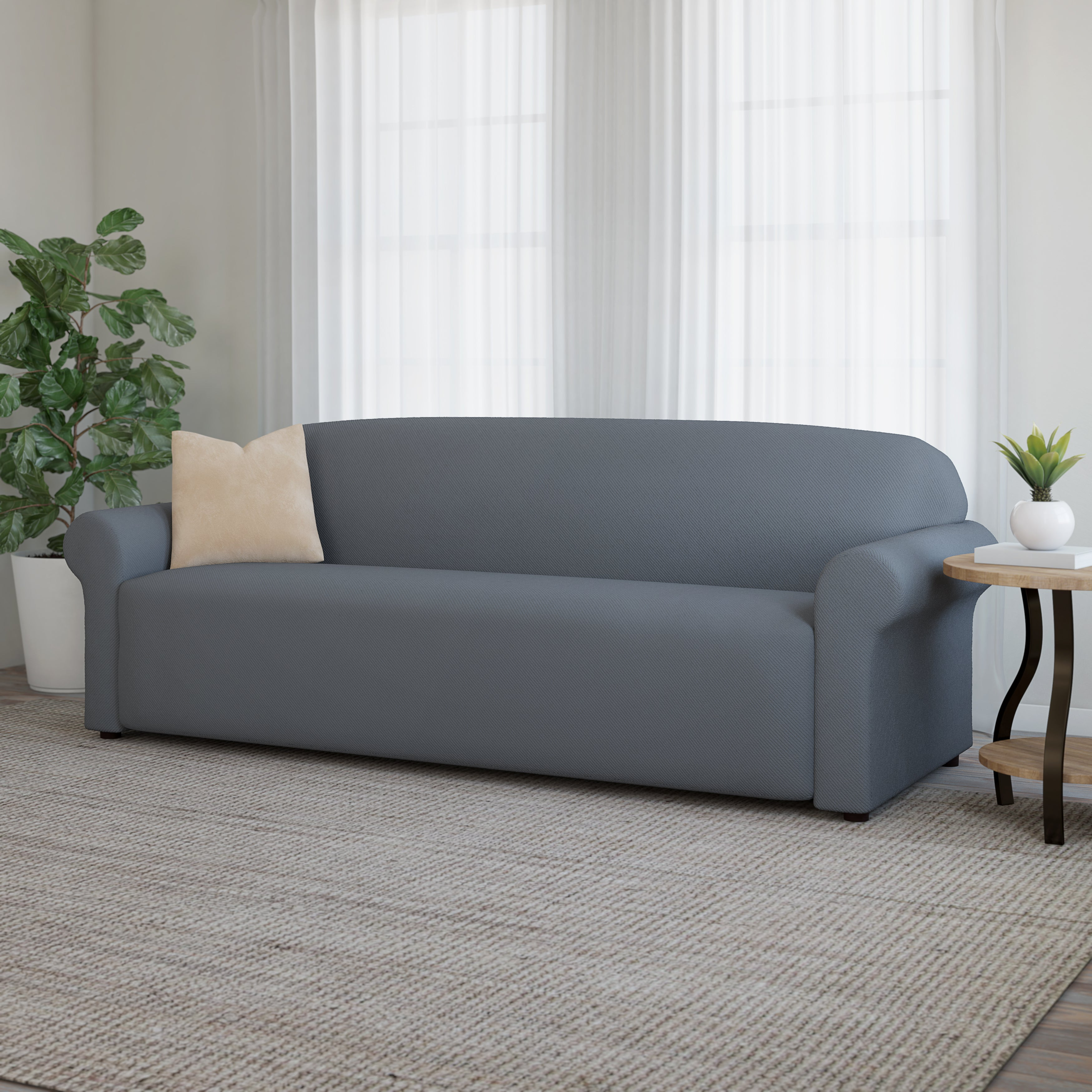 Grey Sofa Couch Slipcovers Online At Our Best Furniture Covers Deals