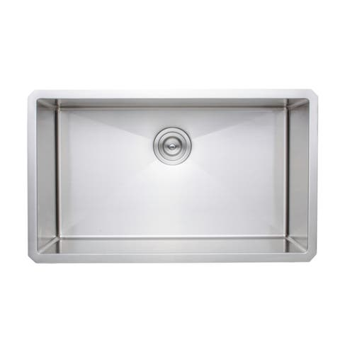 Wells Sinkware New Chef's Collection Handcrafted 30-inch 16-gauge Undermount Single Bowl Stainless Steel Kitchen Sink