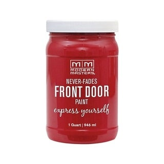 Modern Masters Interior/Exterior Water-Based Front Door Paint Ambitious Satin 1 qt. Deep Tone Base