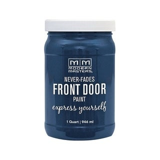 Modern Masters Interior/Exterior Water-Based Front Door Paint Calm Satin 1 qt. Deep Tone Base