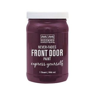 Modern Masters Interior/Exterior Water-Based Front Door Paint Playful Satin 1 qt. Deep Tone Base