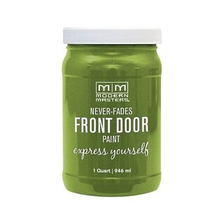 Modern Masters Interior/Exterior Water-Based Front Door Paint Fortunate Satin 1 qt. Deep Tone Base