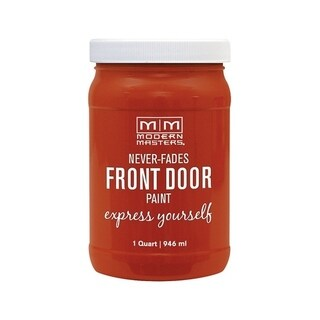 Modern Masters Interior/Exterior Water-Based Front Door Paint Motivated Satin 1 qt. Deep Tone Base