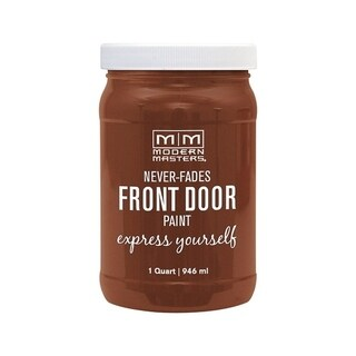Modern Masters Interior/Exterior Water-Based Front Door Paint Comfortable Satin 1 qt. Deep Tone Base