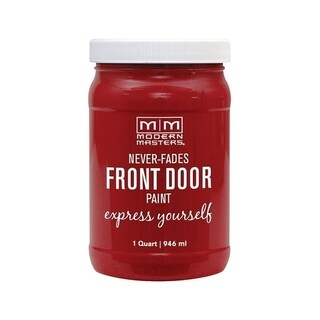 Modern Masters Interior/Exterior Water-Based Front Door Paint Sophisticated Satin 1 qt. Deep Tone Base