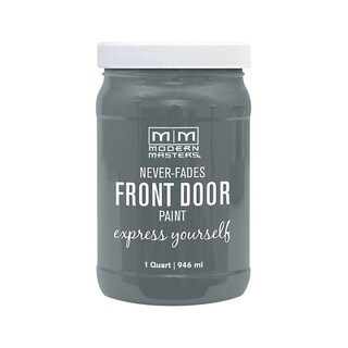 Modern Masters Interior/Exterior Water-Based Front Door Paint Mysterious Satin 1 qt. Deep Tone Base