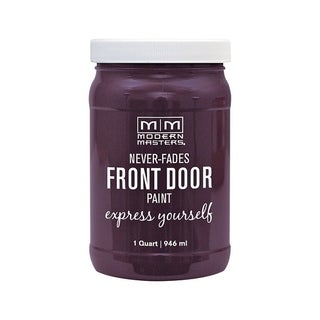 Modern Masters Interior/Exterior Water-Based Front Door Paint Spontaneous Satin 1 qt. Deep Tone Base
