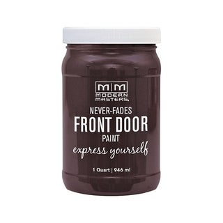 Modern Masters Interior/Exterior Water-Based Front Door Paint Sincere Satin 1 qt. Deep Tone Base