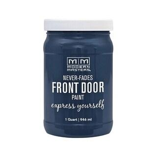 Modern Masters Interior/Exterior Water-Based Front Door Paint Serene Satin 1 qt. Deep Tone Base