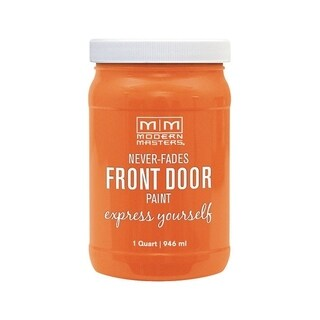 Modern Masters Interior/Exterior Water-Based Front Door Paint Energetic Satin 1 qt. Deep Tone Base