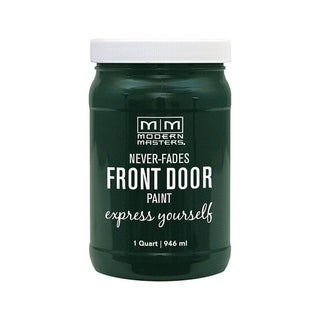 Modern Masters Interior/Exterior Water-Based Front Door Paint Successful Satin 1 qt. Deep Tone Base