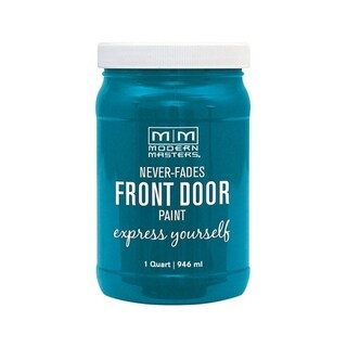 Modern Masters Interior/Exterior Water-Based Front Door Paint Tranquil Satin 1 qt. Deep Tone Base