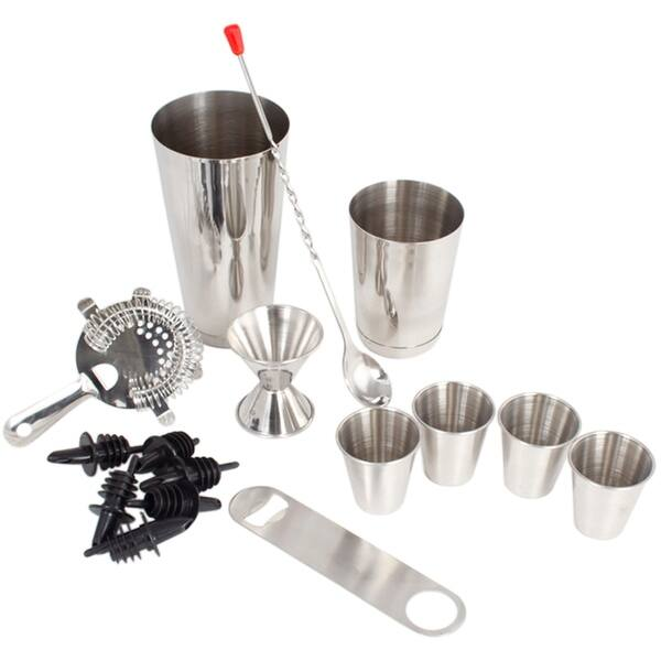 Stainless Steel 16 Pcs Tail Shaker Set Complete