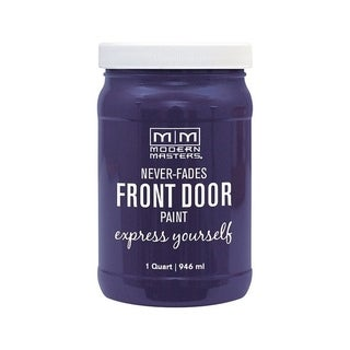 Modern Masters Interior/Exterior Water-Based Front Door Paint Spiritual Satin 1 qt. Deep Tone Base