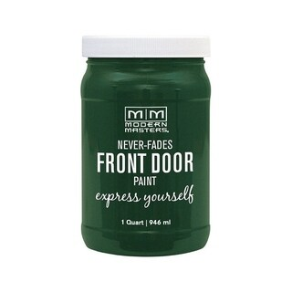 Modern Masters Interior/Exterior Water-Based Front Door Paint Natural Satin 1 qt. Deep Tone Base