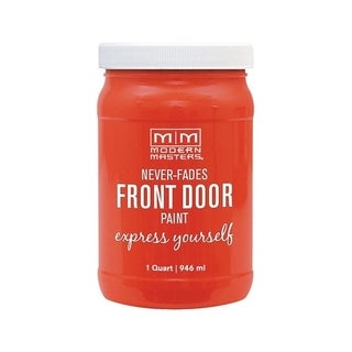Modern Masters Interior/Exterior Water-Based Front Door Paint Cheerful Satin 1 qt. Deep Tone Base