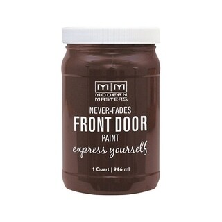 Modern Masters Interior/Exterior Water-Based Front Door Paint Grounded Satin 1 qt. Deep Tone Base