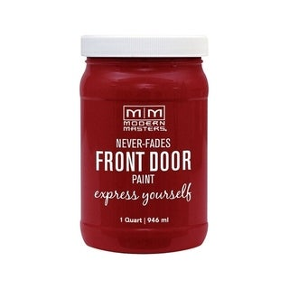 Modern Masters Interior/Exterior Water-Based Front Door Paint Passionate Satin 1 qt. Deep Tone Base