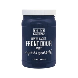 Modern Masters Interior/Exterior Water-Based Front Door Paint Peaceful Satin 1 qt. Deep Tone Base