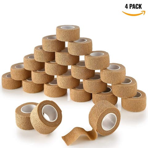 MEDca Self Adherent Cohesive Tape Wrap Bandage First Aid Wound Care Premium Quality FDA Approved 2 Inches X 5 Yards - 24 Count