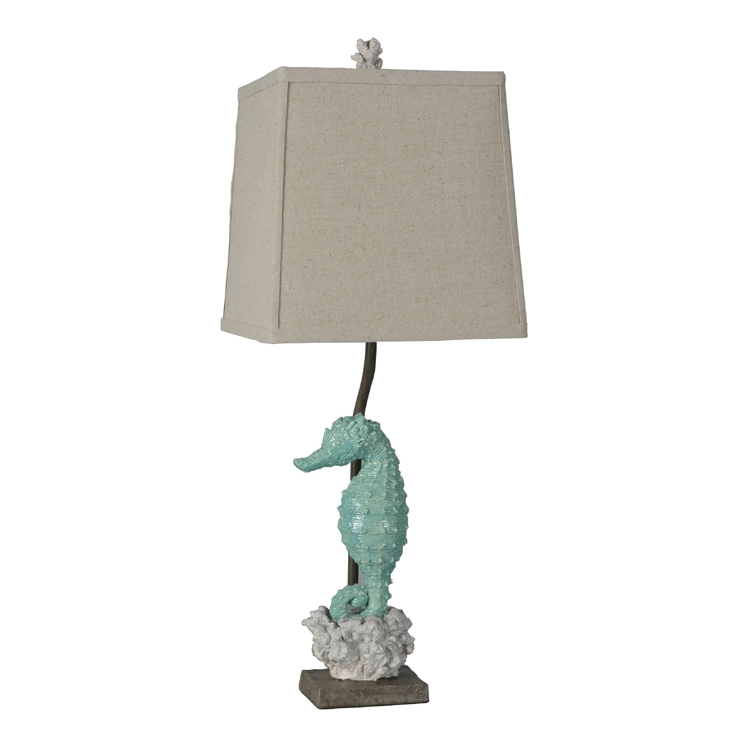 Lamps Per Se 26 5 Inch Sea Blue Seahorse White Coral Table Lamp Set Of 2 N A On Sale Overstock 21424763