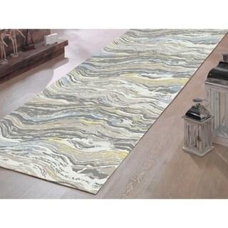 Murano Waves Soft Polypropylene Muti-colored Runner - 2'3 x 7'
