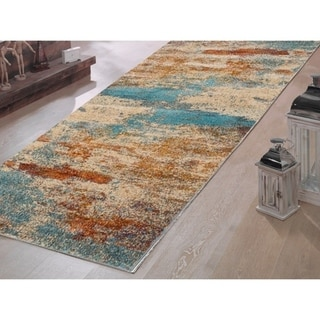Murano Abstract Soft Polypropylene Muti-colored Runner - multi - 2'3 x 7'