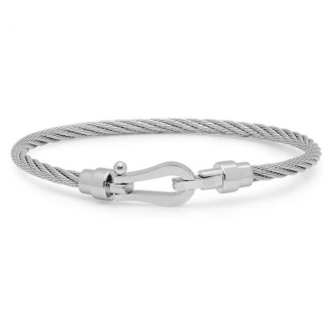 Steeltime Men's Stainless Steel Wire Bracelet in 2 Colors