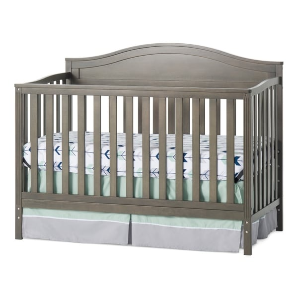 Sidney 4-in-1 Convertible Crib, Dapper Gray. Opens flyout.