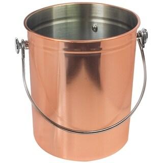Utensil Holder Caddy Crock - Copper