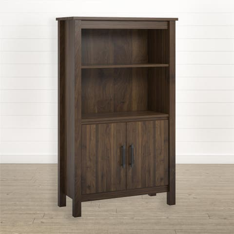 Avenue Greene Pine Ridge 3 Shelf Bookcase with Doors