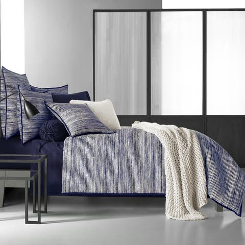 Five Queens Court Felix Indigo Duvet Cover