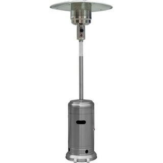 Zen-Temp Outdoor Patio Heater, Tall - Umbrella, Style - NG, Stainless Steel