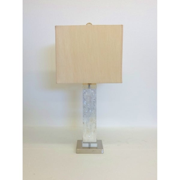 Mother of Pearl Vertical Square Table Lamp