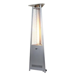 Zen-Temp Outdoor Patio Heater, 3-Sided Glass Tube, Stainless Steel