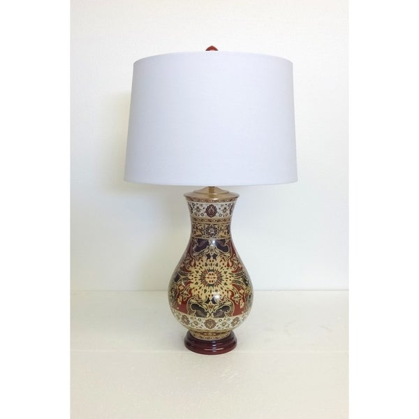 Persian Style Pattern Porcelain Table Lamp