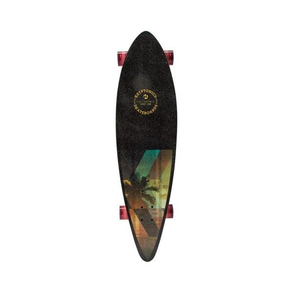 "Kryptonics Pintail Longboard Complete Skateboard (37"" x 9.5"") - Black"